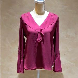White house Black Market cranberry blouse size 4